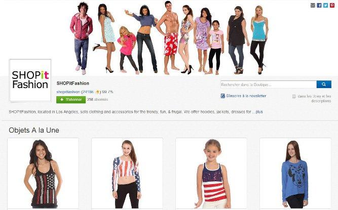 """La boutique SHOP it FAshion propose dans ses """"Objets à la une"""" différentes catégories de produits représentant son offre."""