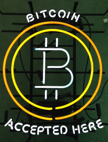 Bitcoin Accepted Here via Cryptocables-featured