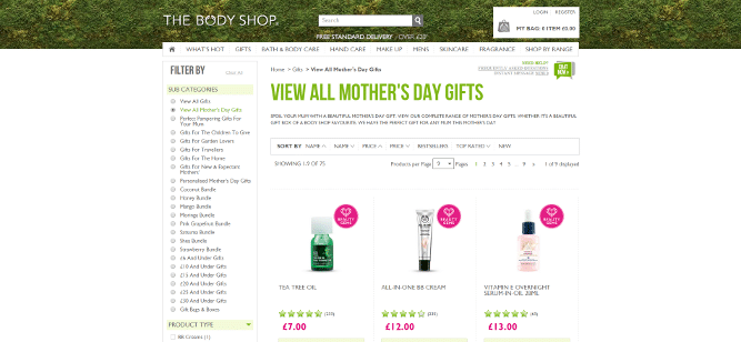 Body Shop Mother's Day