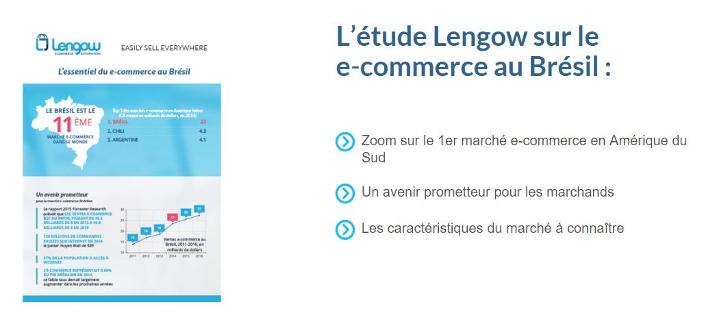 La fiche pays Lengow sur le e commerce au Brésil