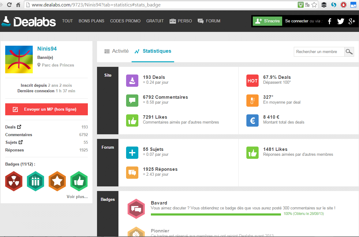 Member Ranking Dealab