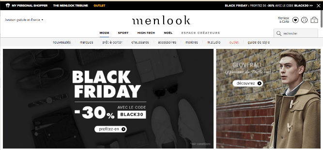 Boutique en ligne de Menlook