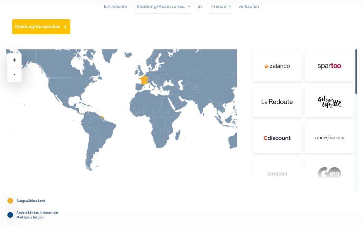 Marktplatz Suche Screen